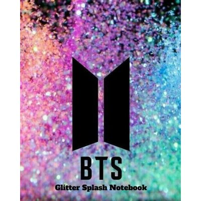 BTS Glitter Splash Notebook
