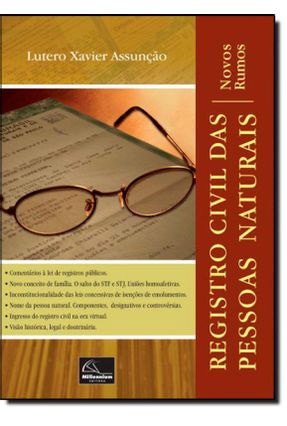 Edição antiga - Registro Civil Das Pessoas Naturais - Assunção,Lutero Xavier | Hoshan.org
