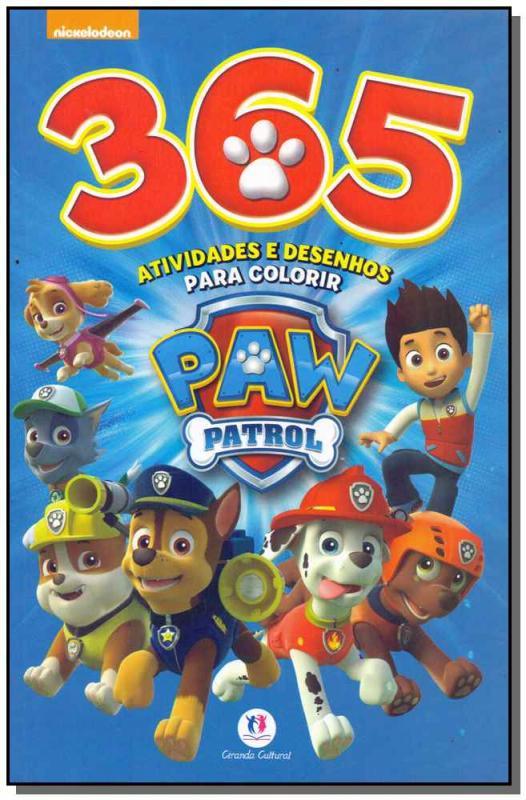 Patrulha Canina 365 Atividades E Desenhos Para Colorir Saraiva