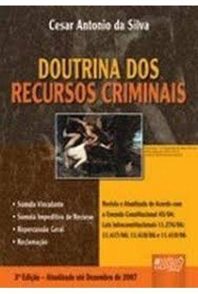 Doutrina Dos Recursos Criminais - Antonio da Silva,Cesar pdf epub
