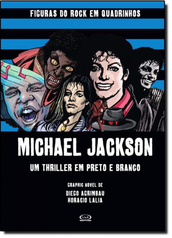 Michael Jackson Um Thriller Em Preto E Branco Col Figuras Do