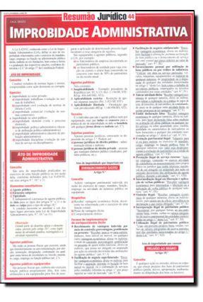 Resumão Jurídico 44 - Improbabilidade Administrativa - Simão Neto,Calil pdf epub