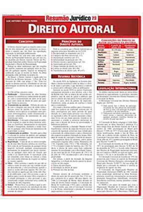 Resumão - Direito Autoral - Jurídico 23 - Pierre,Luiz Antonio Araujo   Hoshan.org