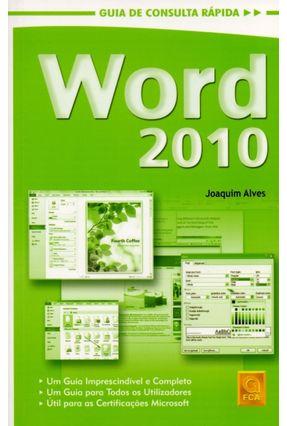 Word 2010 - Guia de Consulta Rápida - Joaquim Alves pdf epub