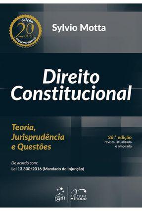 Usado - Edição antiga - Direito Constitucional - Teoria, Jurisprudência e - Motta,Sylvio | Hoshan.org