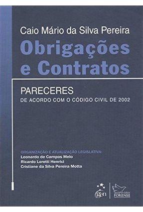Obrigações e Contratos - Pareceres de Acordo Com o Código Civil de 2002 - Pereira,Caio Mario da Silva   Hoshan.org