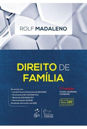 Edição antiga - Curso de Direito de Família 7ª Ed. 2016 - Madaleno,Rolf | Hoshan.org