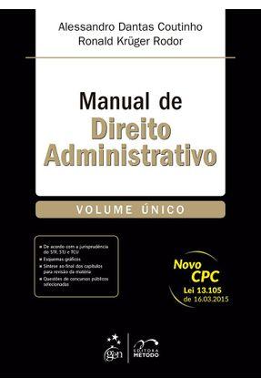 Manual de Direito Administrativo - Vol. Único - Coutinho,Alessandro Dantas Rodor,Ronald Krüger pdf epub