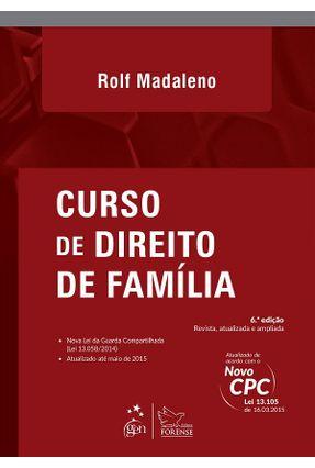 Usado - Curso de Direito de Família 6ª Ed. 2015 - Madaleno,Rolf | Tagrny.org