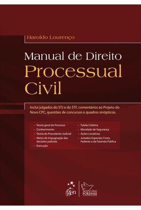 Usado - Manual de Direito Processual Civil - Lourenço,Haroldo   Hoshan.org