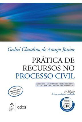 Prática de Recursos No Processo Civil - 3ª Ed. 2016 - Araujo Júnior,Gediel Claudino De pdf epub
