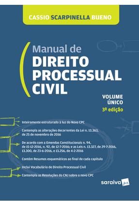 Usado - Manual de Direito Processual Civil - Lei Nº 13.105 - Bueno,Cassio Scarpinella pdf epub