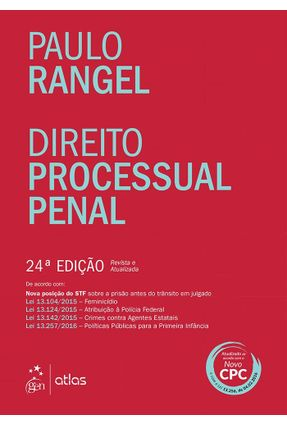 Usado - Direito Processual Penal - 24ª Ed. 2016 - Rangel,Paulo C. | Hoshan.org