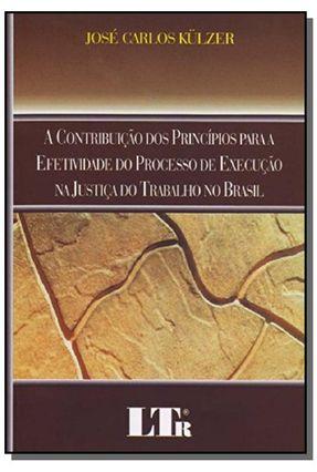 A Contribuição Dos Princípios Para A Efetividade do Processo De Execução na Justiça do Trabalho No - Kulzer,Jose Carlos   Hoshan.org