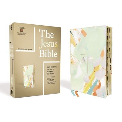 The Jesus Bible, ESV Edition, Leathersoft, Multi-Color/Teal, Indexed