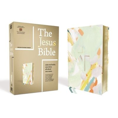 The Jesus Bible, ESV Edition, Leathersoft, Multi-Color/Teal