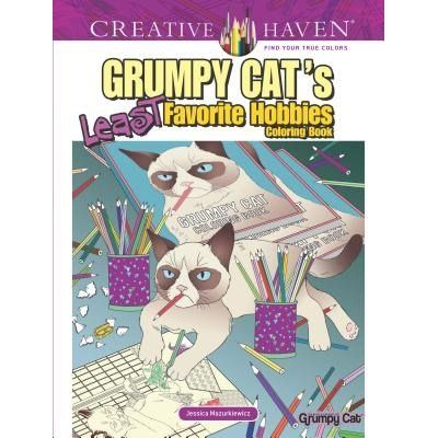 Creative Haven Grumpy Cat's Least Favorite Hobbies Coloring Book