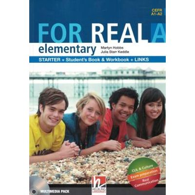 For Real Elementary A Sb/Wb/Links + Cd/Cdrom