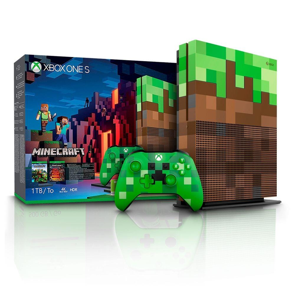Console Xbox One S - Xbox One S 10Tb Edição Minecraft  Saraiva