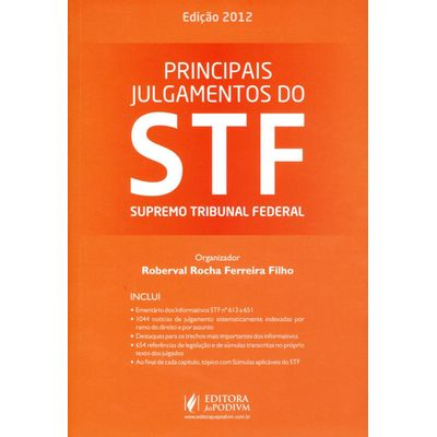 Usado - Principais Julgamentos do Stf - Superior Tribunal Federal