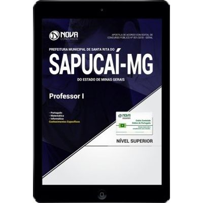 Download Apostila Prefeitura de Santa Rita do Sapucaí - MG 2018 - Professor I