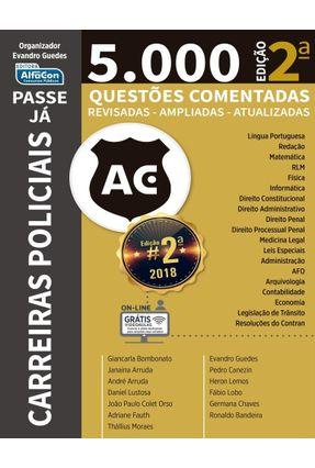 Passe Já - 5.000 Questões - Carreiras Policiais  - Atualizadas, Revisadas e Ampliadas - Alfacon pdf epub