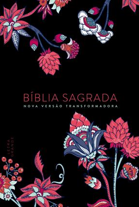 Bíblia Nvt -Flower Preta - Letra Grande - Mundo Cristão | Hoshan.org