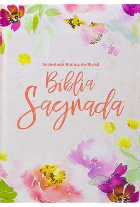 Bíblia Letra Grande Capa Dura Floral - Sociedade Bíblica do Brasil pdf epub
