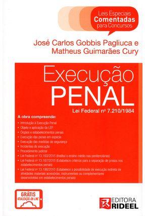 Execução Penal - Col. Leis Especiais Comentadas Para Concursos - Pagliuca,José Carlos Gobbis   Hoshan.org