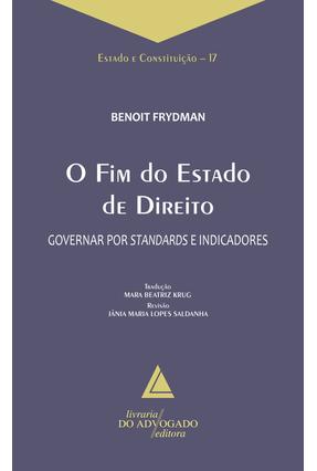 Edição antiga - O Fim do Estado de Direito - Frydman ,Benoit | Hoshan.org