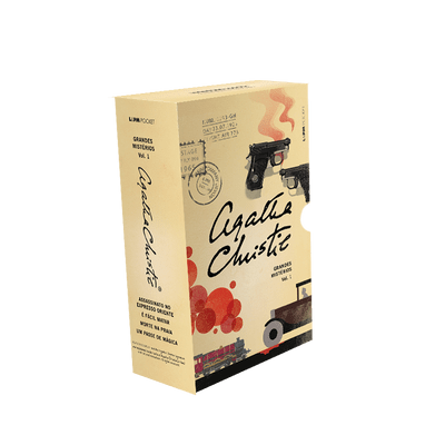 Box - Grandes Mistérios De Agatha Christie Vol. 1  - 4 Volumes - Pocket
