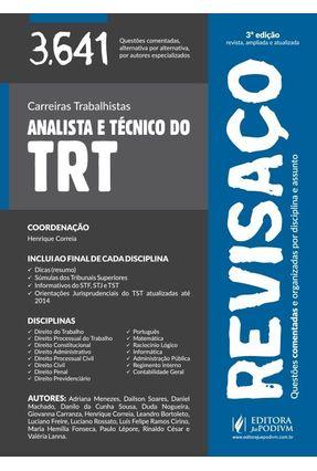 Usado - Revisaço - Analista e Técnico do TRT - 3.641 Questões Comentadas - 3ª Ed. 2015