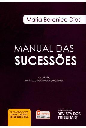 Manual Das Sucessões - 4ª Ed. 2015 - Dias,Maria Berenice | Hoshan.org