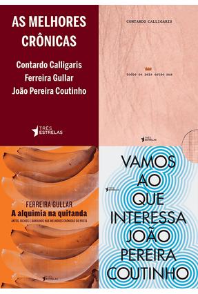 Box - As Melhores Crônicas - 3 Volumes - Gullar,Ferreira Calligaris,Contardo Coutinho,João Pereira | Nisrs.org