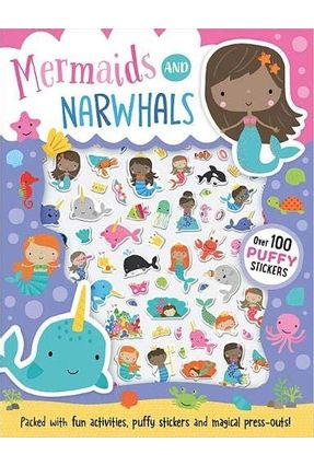 Mermaids And Narwhals - Puffy Stickers - Dawn Machell   Tagrny.org