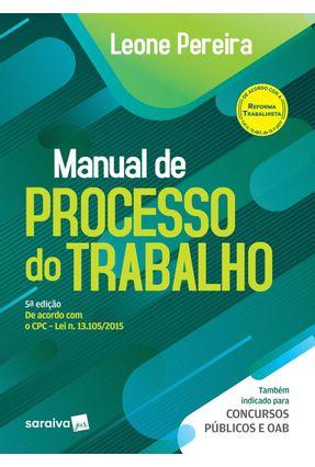 Manual De Processo do Trabalho - Leone Pereira pdf epub