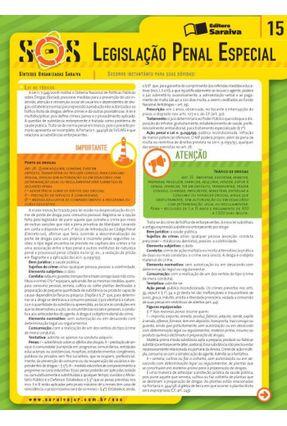 Col. Sos - Sínteses Organizadas Saraiva - Vol. 15 - Legislação Penal Especial - 2ª Ed. 2013 - Theodoro,Luis Marcelo Mileo   Hoshan.org