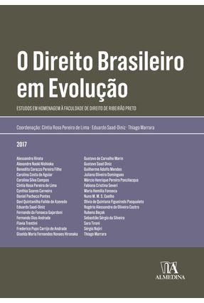 O Direito Brasileiro Em Evolução - Lima,Cíntia Rosa Pereira De Diniz,Eduardo Saad Marrara,Thiago   Tagrny.org