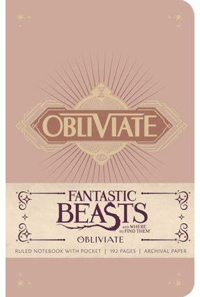 Fantastic Beasts And Where To Find Them - Obliviate Notebook - Insight Editions | Nisrs.org