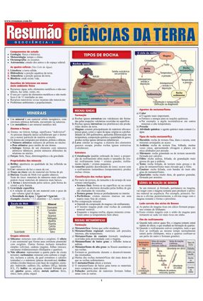 Resumão - Ciências da Terra - Vários Autores   Hoshan.org