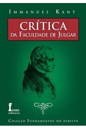 Crítica da Faculdade de Julgar - Kant,Immanuel | Nisrs.org