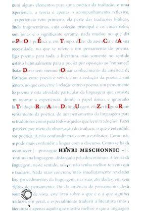 Poética do Traduzir - Col. Estudos 257 - Henri,Meschonnic | Tagrny.org