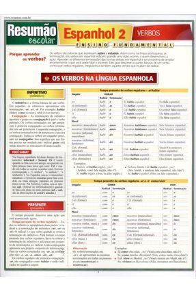 Resumão - Espanhol 2 - Verbos - Saraiva