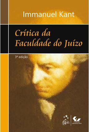 Crítica da Faculdade do Juízo - 3ª Ed. 2012 - Kant,Immanuel pdf epub