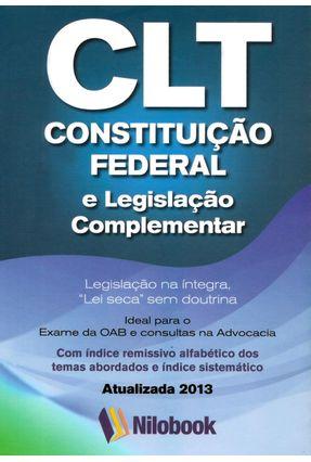 CLT - Constituição Federal e Legislação Complementar - Nilobook,Editora pdf epub