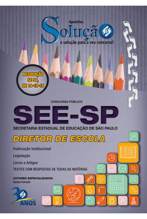 Apostila - Diretor de Escola - Secretaria da Educação do Estado de São Paulo - Marques,Paulo Edson Gonçalves,Valdo | Hoshan.org