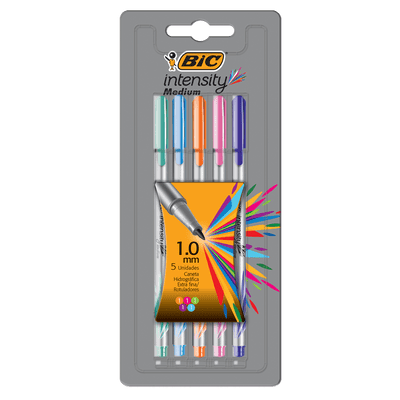 Caneta Hidrográfica BIC Intensity Medium 1.0Mm Com 5 Cores