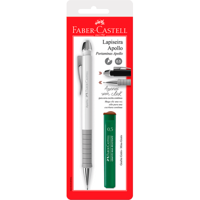Lapiseira Faber Castell Apollo Mix 0.5Mm + Grafite Sortido